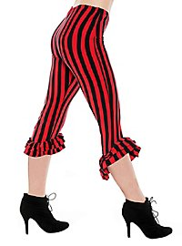 Capri pants with frills red