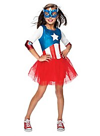 Captain America Girls Kids Costume