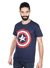 Captain America - T-Shirt Distressed Schild