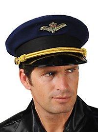 Casquette de pilote bleue