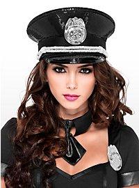 Casquette de police à paillettes