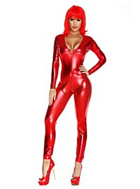 Cat Suit red