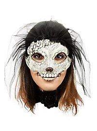 Catrina Maske mit schwarzem Schleier