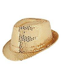 Chapeau à paillettes doré