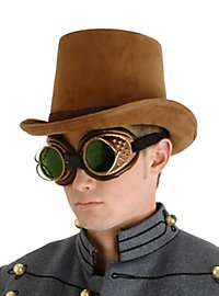 Chapeau de cocher steampunk marron