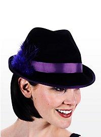 Chapeau de costume traditionnel Femme violet et noir
