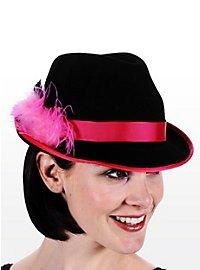 Chapeau de costume traditionnel rose et noir