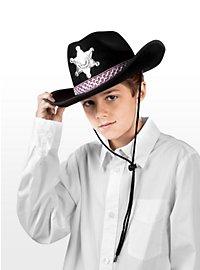 Chapeau de cow-boy noir pour enfant