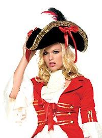 Chapeau de pirate à galon doré