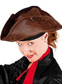 Chapeau de pirate marron