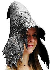 Chapeau de sorcière en latex gris