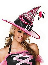 Chapeau de sorcière LED rose