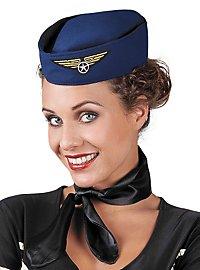 Chapeau d'hôtesse de l'air rétro