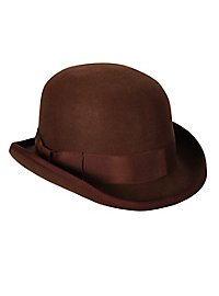 Chapeau melon marron