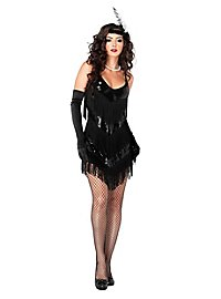 Charleston Flapper black Costume
