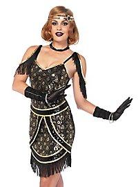 Charleston Kleid mit Pfauenmuster Kostüm