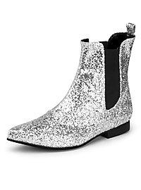 Chaussures à paillettes argentées