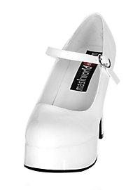 Chaussures à plateau blanches