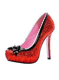 Chaussures à talons hauts rouges à paillettes