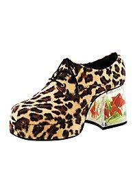 Chaussures années 70 Homme léopard