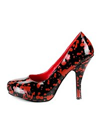 Chaussures Bloody Mary rouges et noires