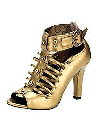 Chaussures steampunk femme bronze