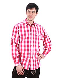 Checked Bavaria Shirt pink & white