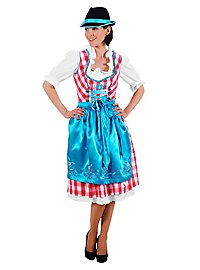 Checked Dirndl red, white & blue