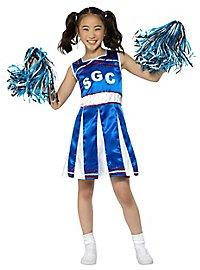 Cheerleader Kinderkostüm blau