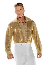 Chemise à paillettes dorée