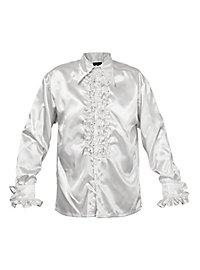 Chemise à ruchés blanche de chanteur