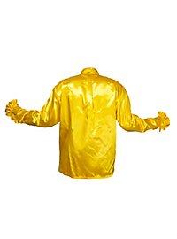 Chemise à ruchés jaune de chanteur