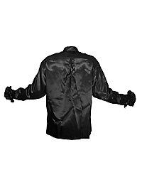 Chemise à ruchés noire de chanteur