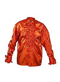 Chemise à ruchés orange de chanteur