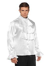 Chemise blanche en satin avec jabot