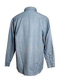 Chemise de cow-boy grise et bleue