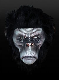 Chimpanzé féroce noir Masque en latex