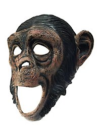 Chimpanzee mask with open mouth