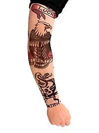 classique Manches de peau tatouée