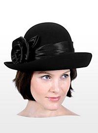 Cloche Hat with Flower Hatband