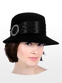 Cloche Hat with Metal Buckle