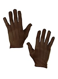 Cloth gloves brown
