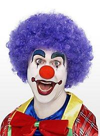 Clown lila Perücke