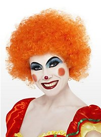 Clown orange Perücke