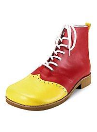 Clown Schuhe gelb-rot