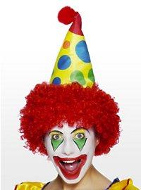 Clown Spitzhut mit Perücke