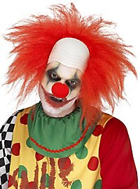 Clown wig with bald forehead