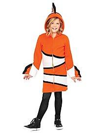 Clownfisch Hoodie Dress für Kinder
