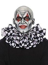 Clownkragen Schachbrettmuster schwarz-weiß