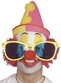 Clownsbrille XXL - verschiedene Farben